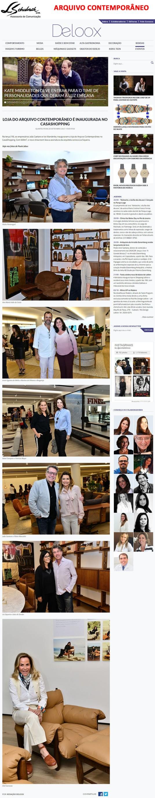 ARQUIVO CONTEMPORÂNEO no portal Deloox em 20 de setembro de 2017