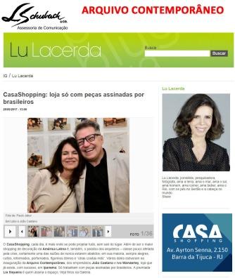 ARQUIVO CONTEMPORÂNEO no site da Lu Lacerda em 20 de setembro de 2017