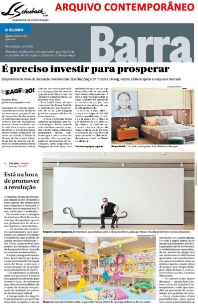ARQUIVO CONTEMPORÂNO no Globo Barra em 17 de setembro de 2017