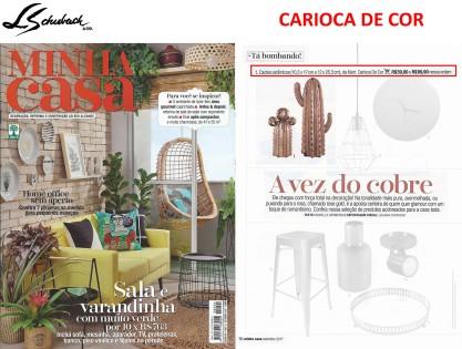CARIOCA DE COR na revista MINHA CASA em setembro de 2017