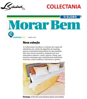 COLLECTANIA no caderno MORAR BEM, do Jornal O Globo, em 3 de setembro de 2017