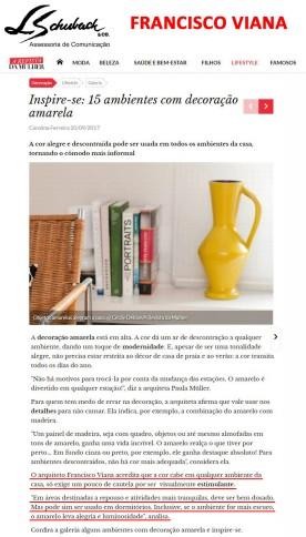 Depoimento do arquiteto FRANCISCO VIANA no portal A Revista da Mulher em 20 de setembro de 2017