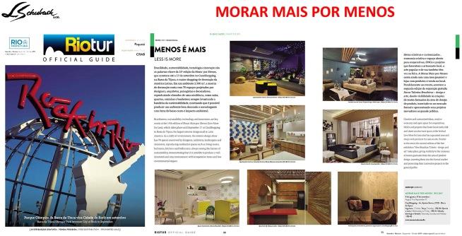 MORAR MAIS POR MENOS na revista RIOTUR Official Guide de setembro de 2017