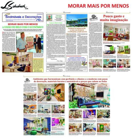 MORAR MAIS POR MENOS na revista SINDMÓVEIS E DECORAÇÕES de setembro de 2017