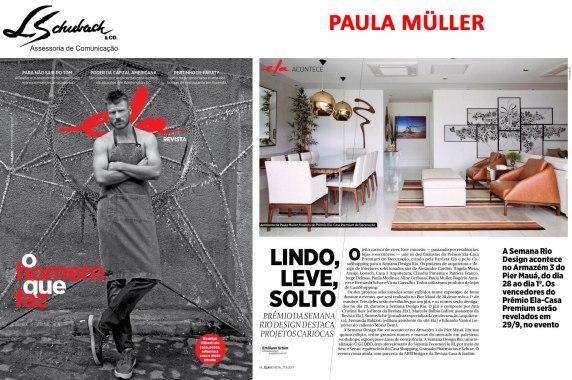 PAULA MULLER no caderno ELA Revista em 17 de setembro de 2017