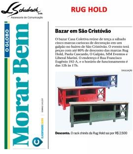 RUG HOLD no caderno Morar Bem do Jornal O Globo em 24 de setembro de 2017
