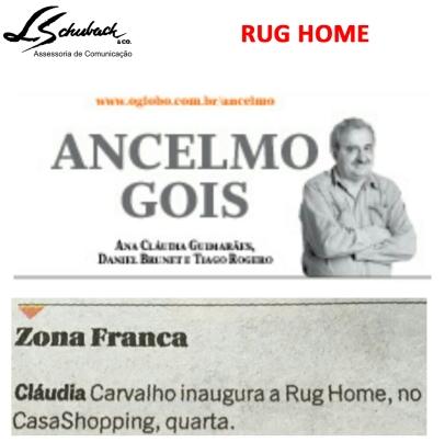 RUG HOME na coluna do Ancelmo Gois em 30 de setembro de 2017