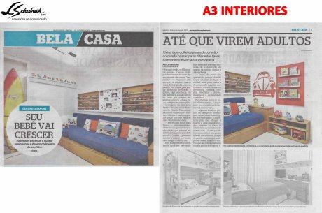 A3 INTERIORES no caderno BELA CASA, do jornal EXTRA, em 7 de outubro de 2017