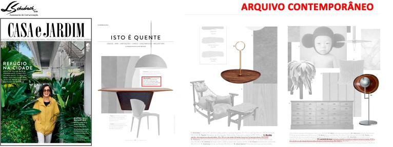 ARQUIVO CONTEMPORÂNEO na revista Casa e Jardim de novembro de 2017