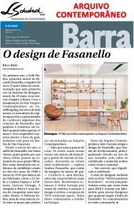 ARQUIVO CONTEMPORÂNEO no caderno Globo Barra do jornal O Globo em 26 de novembro de 2017