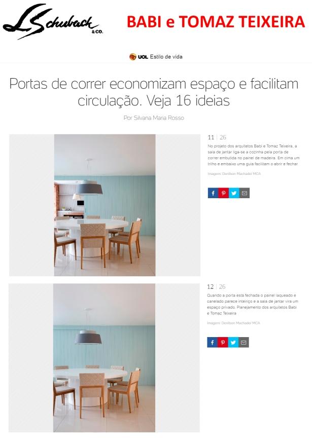 BABI E TOMAZ TEIXEIRA no portal UOL em 30 de novembro de 2017