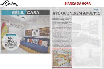 BIANCA DA HORA no caderno Bela Casa, do jornal EXTRA, em 7 de outubro de 2017