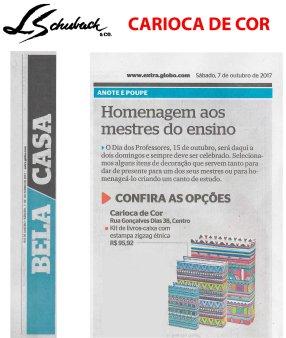 CARIOCA DE COR no caderno BELA CASA, do jornal EXTRA, em 07 de outubro de 2017