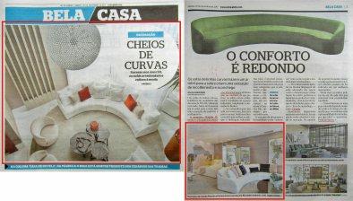 CLAUDIA PIMENTA e PATRICIA FRANCO no caderno BELA CASA do jornal EXTRA de 25 de novembro 2017