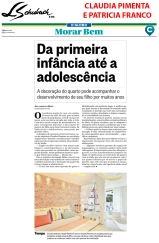 CLAUDIA PIMENTA E PATRICIA FRANCO no caderno MORAR BEM, do jornal O GLOBO, em 8 de outubro de 2017