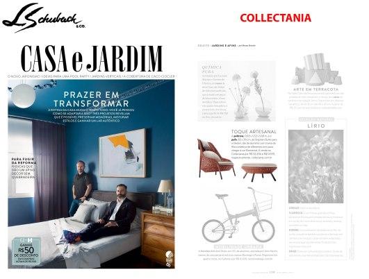 COLLECTANIA na revista CASA E JARDIM em OUTUBRO de 2017 - 2