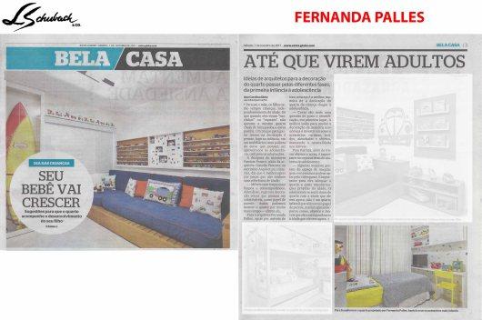 FERNANDA PALLES no caderno BELA CASA, do jornal EXTRA, em 07 de outubro de 2017