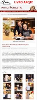 Livro ARQTE no site da Anna Ramalho em 1 de novembro de 2017