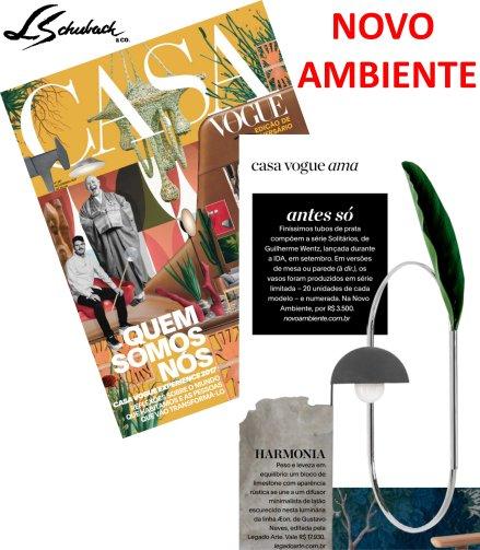 NOVO AMBIENTE na revista CASA VOGUE de novembro de 2017