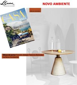 NOVO AMBIENTE na revista CASA VOGUE em outubro de 2017 - insta