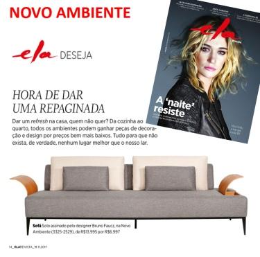 NOVO AMBIENTE na REVISTA ELA, do Jornal O Globo, em 19 de novembro de 2017
