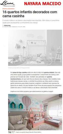 Projeto da arquiteta NAYARA MACEDO no site da Casa Claudia em novembro de 2017