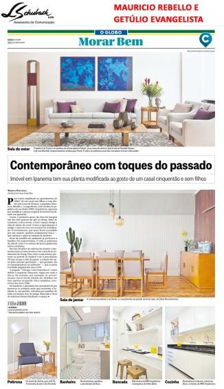 Projeto da dupla MAURICIO REBELLO e GETÚLIO EVANGELISTA no caderno Morar Bem do jornal O Globo em 5 de novembro de 2017