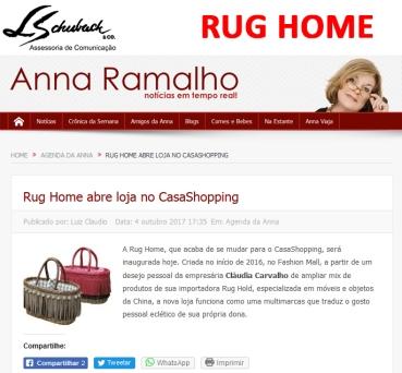 RUG HOME no blog da Anna Ramalho em 4 de outubro de 2017