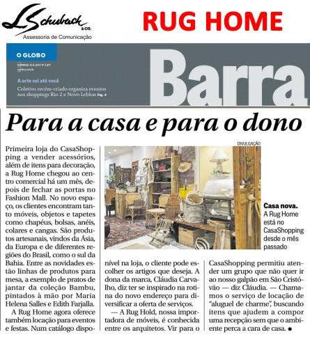 RUG HOME no Globo Barra em 12 de novembro de 2017