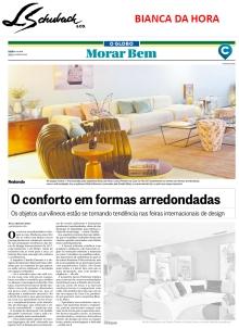 BIANCA DA HORA no caderno MORAR BEM, do jornal O GLOBO, em 3 de dezembro de 2017