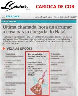 CARIOCA DE COR no caderno BELA CASA, do jornal EXTRA, em 9 de dezembro de 2017