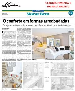 CLAUDIA PIMENTA E PATRICIA FRANCO no caderno MORAR BEM, do jornal O GLOBO, em 3 de dezembro de 2017
