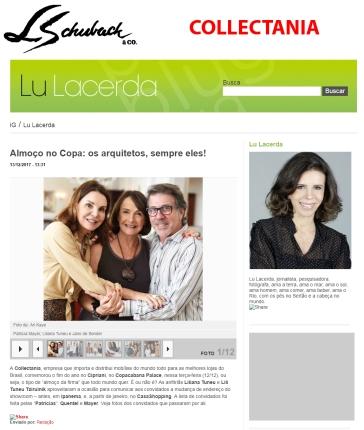 COLLECTANIA no portal Lu Lacerda em 13 de dezembro de 2017