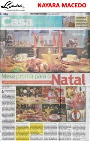 Depoimento da arquiteta NAYARA MACEDO no caderno Casa do jornal O Dia em 3 de dezembro de 2017