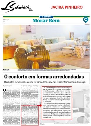 JACIRA PINHEIRO no caderno MORAR BEM, do jornal O GLOBO, em 3 de dezembro de 2017