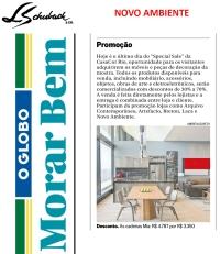 NOVO AMBIENTE na coluna Notas Imobiliárias, no caderno MORAR BEM, do jornal O GLOBO, em 3 de dezembro de 2017