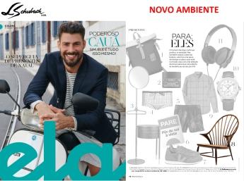NOVO AMBIENTE na revista ELA, do jornal O Globo, em 17 de dezembro de 2017 - parte 1