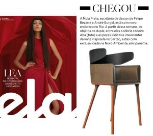 NOVO AMBIENTE na Revista ELA, em 24 de dezembro de 2017