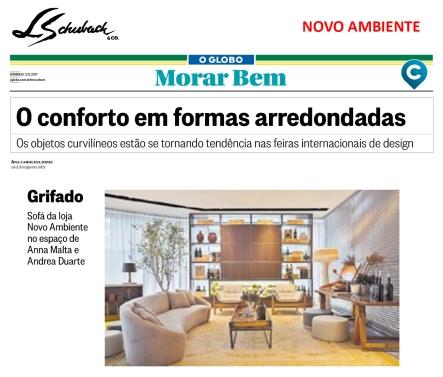 NOVO AMBIENTE no caderno MORAR BEM, do jornal O GLOBO, em 3 de dezembro de 2017