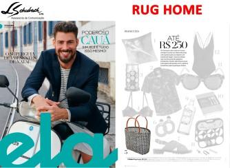 RUG HOME na revista ELA do jornal O Globo em 17 de dezembro de 2017