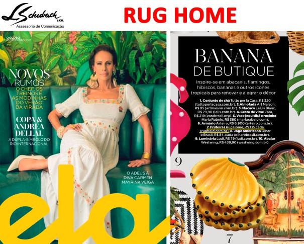 RUG HOME na revista Planeta Ela do jornal O Globo em 10 de dezembro de 2017