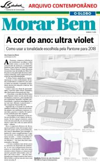 ARQUIVO CONTEMPORÂNEO no caderno Morar Bem do jornal O Globo em 7 de janeiro de 2018