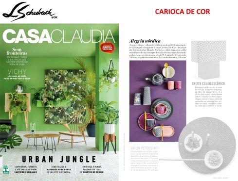CARIOCA DE COR na revista CASA CLAUDIA em janeiro de 2018