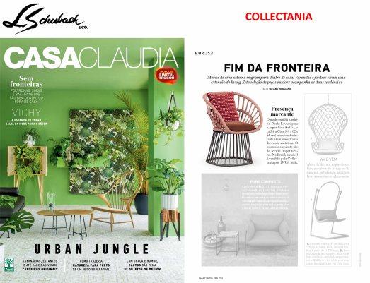 COLLECTANIA na revista CASA CLAUDIA em janeiro de 2018