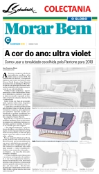 COLLECTANIA no caderno MORAR BEM, do jornal O GLOBO, em 7 de janeiro de 2018