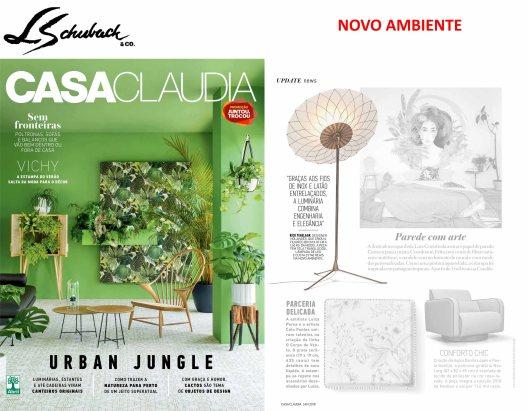 NOVO AMBIENTE na revista CASA CLAUDIA em janeiro de 2018