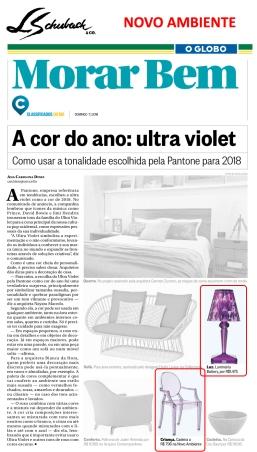 NOVO AMBIENTE no caderno MORAR BEM, do jornal O GLOBO, em 7 de janeiro de 2018