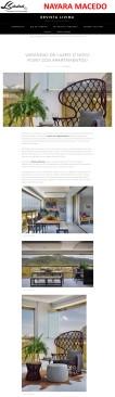 Projeto da arquiteta NAYARA MACEDO na revista digital LIVIMA em 17 de janeiro de 2018