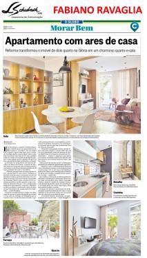 Projeto do arquiteto FABIANO RAVAGLIA no caderno Morar Bem do jornal O Globo em 14 de janeiro de 2018