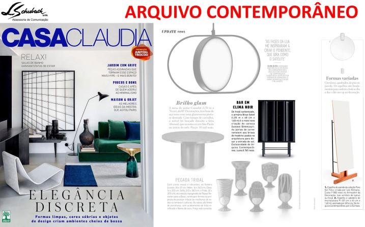ARQUIVO CONTEMPORÂNEO na revista Casa Claudia de fevereiro de 2018